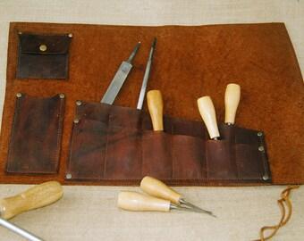 Multi-Use Leather tool roll