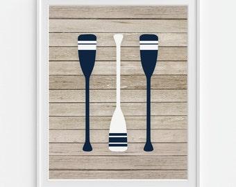 Boat Oars Art Print, Rafting Oars, Ship Oars, 5x7, 8X10, 11x14 Sailing Oars, Nautical Wall Art, Boys Nursery Wall Decor, Sailboat Oars