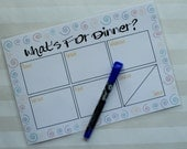 What's For Dinner Weekly Meal Plan Magnetic Reusable Meal Planner For Personal Use To Keep You Organized For The Week With Dry Erase Pen