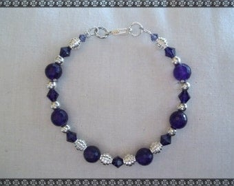 purple bracelet, dark purple bracelet, jade bracelet