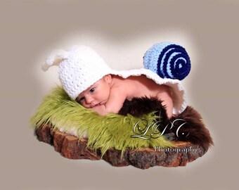 Snail Hat & Cape Set Newborn Baby Crochet Costume Halloween