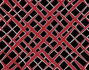 Windham Fabrics Ninjas Don't Sweat 38951-6 Black/Red Slashes Yardage