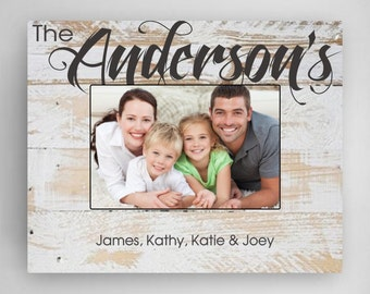 Personalized White Wood Frame - Personalized Family Picture Frame - Mother's Day Gifts - Gifts for Mom - Gifts for Her - GC1295 WHITEWASH