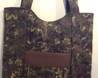 Mossy oak camo quilted purse