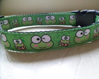 Frog dog collar.
