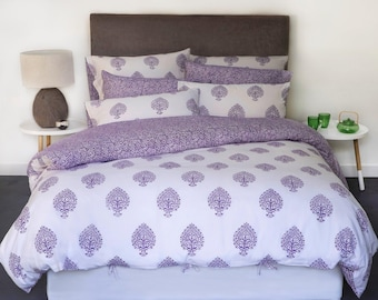Beautiful block printed Quilt/Duvet/Doona Cover Set - Double, Queen and King sizes available