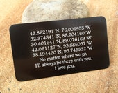 Custom Wallet Insert, Personalized Wallet Card, Metal Wallet Insert, Engraved Wallet Insert, Wedding Vow Card for Him, Valentine's Day
