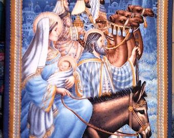 Jesus Mary Joseph Egypt Quilt Magi Star Camels Donkey