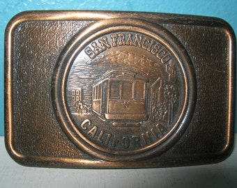 San Francisco, California Copper Look Belt Buckle, Made In Canada, Vintage, Collectible Buckle,