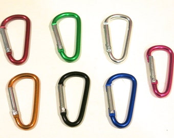 """15pc """"carabiner"""" clip-ons in mixed colors (BC756)"""