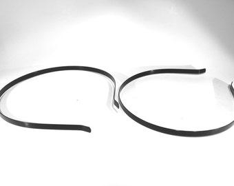 """5pc black """"headband"""" metal (JC92)"""