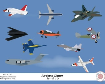Airplane Clipart, Jets, Military Planes, Crafting, Scrapbooking, Printable, Instant Download, Clip Art, Vintage Planes, Aircraft, Aviation