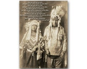 WEDDING CARD - Edward Curtis Historic Photo Collection - Also available as a Print with a custom Mat or a Quote Block (CPIC2013067)