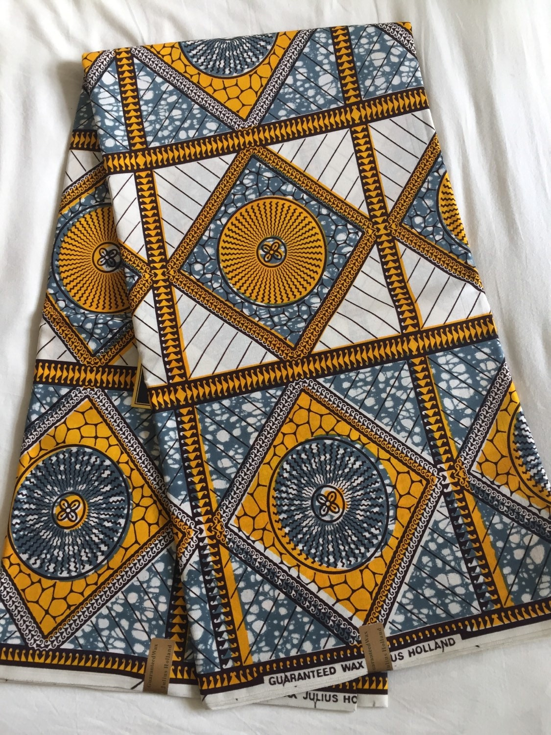 African Wax Cotton Print Fabric African Wax By