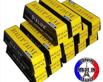 Yellow Dialux Polishing Compound Jaune Rouge 12 Bars Brass Polish WA 417-011-12
