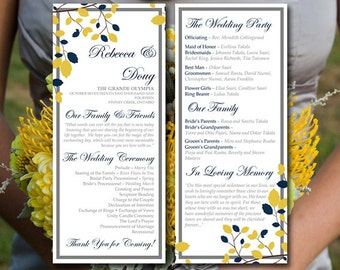 Fall Wedding Program Template