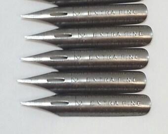 Free Shipping!! R.Esterbrook Extra Fine Elastic Pen Nib #128 Lot Of 6