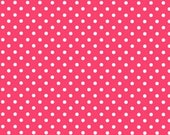 Sunrise Studio 2 Fabric, Red with White Polka Dots, Half Yard, Lakehouse Dry Goods LHC07013-RED