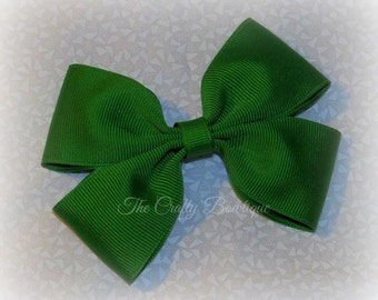 Emerald Green Bow ~ Emerald Boutique Bow ~ Large Green Bow ~ Green Hair Bow ~ Christmas Hair Bow ~ Green Headband Bow ~ Large Emerald Bow