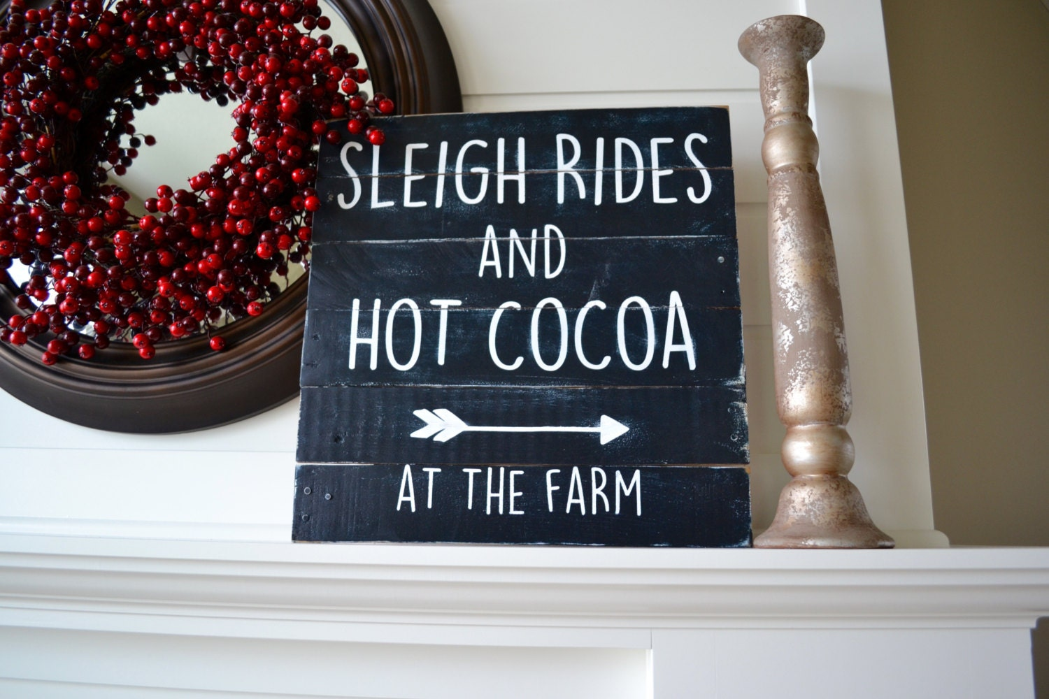 winter wall art pallet sign wood signs quote sign sign with words - Christmas Pallet Signs