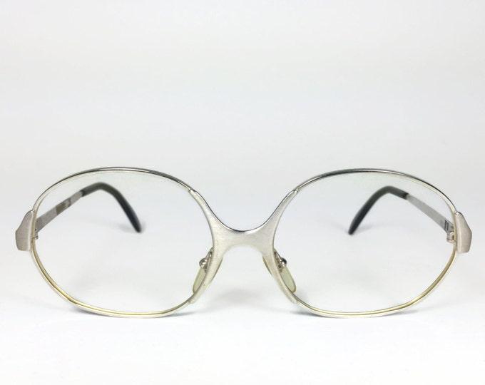 70s Vintage Eyeglasses | 1970s Silver Round Glasses | NOS Eyeglass Frame | Deadstock Eyewear - 3961