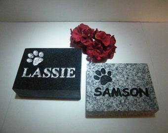Pet Marker/Cat or Dog Memorial Granite Markers / Stone Pet Memorials