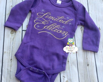 Limited Edition Shirt, Gown, or Bodysuit, New Baby Gift, Baby Shower Gift, Girly Attitude Shirt