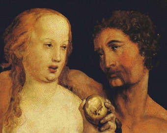 Adam and Eve PDF Cross Stitch Pattern