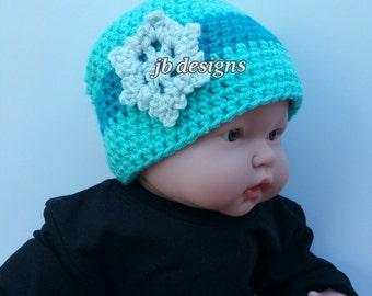 crochet hat, baby shower gift, crochet beanie hat, snowflake hat, winter, snow queen, beanie hat, baby shower, twins, matching hats