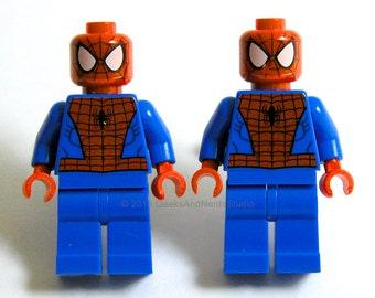 Groomsmen Gift - LEGO Spiderman Cufflinks - Superhero Cufflinks - Wedding Cufflinks - Mens Cufflinks - Best Man Gift- Groom Cufflinks