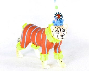 "Jumbo Party Animal  ""Harold"" the Cheetah painted carnival, circus, and birthday decor"