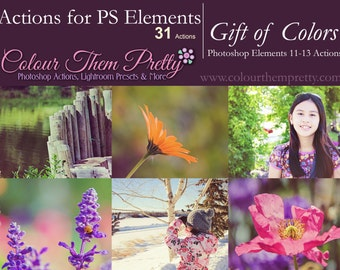 50% OFF! - 31 Photoshop Actions (PS Elements) - Gift of Colors