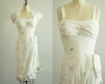 vintage 1950s dress / Alfred Shaheen Hawaiian sarong dress / xs / Mau Loa Dress