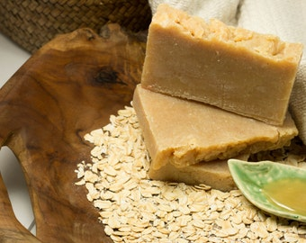 Oatmeal Honey Goats Milk Bar Soap