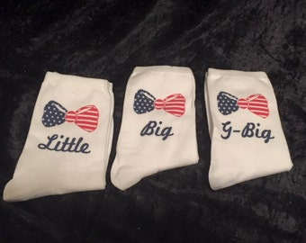 America Themed Ankle Socks (listing is for one pair of socks)
