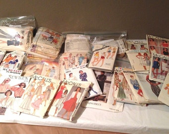 Large Lot of Vintage Patterns-Preused-1940-1980's-Great Looks!Butterick & McCall