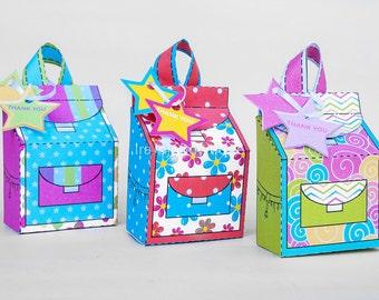 Backpack Favor Box Set, Favor Box Printable for Back to school Parties, Back to School Favor Box, Teacher Appreciation