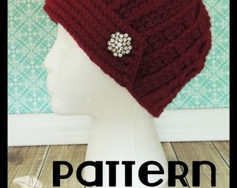 PATTERN - Flapper-Style Crochet Hat, Vintage Hat