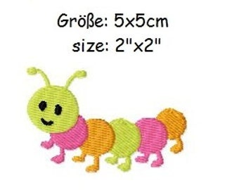 Embroidery Design Caterpillar 2'x2' - DIGITAL DOWNLOAD PRODUCT