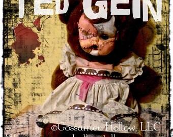 TED GEIN- Goth Creepy Horror Punk Art Doll Serial Killer Gory