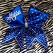 Customized rhinestone cheer bow