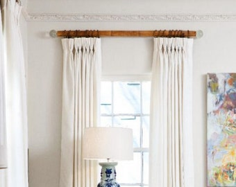Curtain Rod-Bamboo-Fire Stained- Curtain Rods