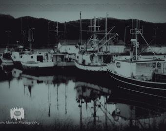 Vintage Style Boat Print, Newfoundland Fishing Boat Fine Art Photo, Boat Photo Print, Fine Art Photograph, Vintage Style Photograph Print