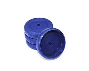 Proops 4 x 37mm dia 4mm Bore Dark Blue Wheels. (S7341) Free UK Postage.