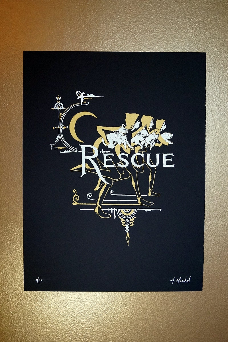 "Silkscreen Print, 1st Edition ""Rescue"""