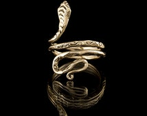 Coiled Brass Snake Wrap Ring, brass ring,Tribalik rings,tribal brass, snake rings, adjustable ring (code 10)