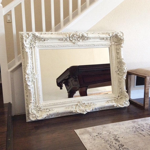 Gorgeous ornate mirror for sale large white mirror by for Large white mirrors for sale