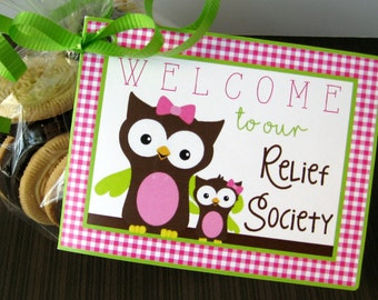 Printable Relief Society Welcome Tags, INSTANT DOWNLOAD