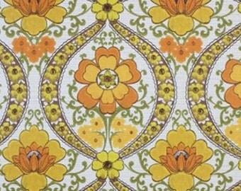 1960s 70s Bloomin Original Caltha Floral Vintage Wallpaper - Vinyl