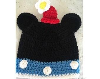 Crochet Disney inspired Vintage Minnie Mouse Beanie